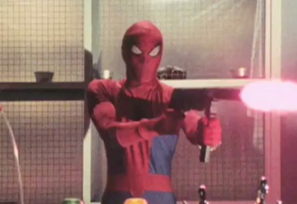 Japanese Spiderman uses guns
